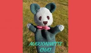 # amigurumi : marionnette chat