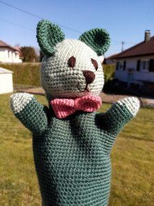 marionnette chat au crochet