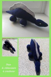 En voulant crocheter un amigurumi pour ma fille, j'ai créé un nouveau genre de dinosaure. Aurez-vous le courage de venir le voir ?