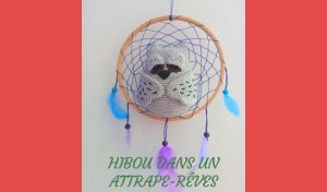 # Amigurumis : hibou dans un attrape-rêves