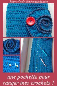 # crochet : une pochette ammonite