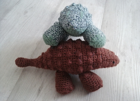 Hank l'ankylosaure à crocheter