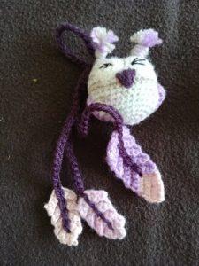 amigurumi hibou violet