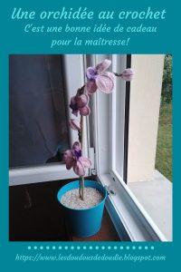 # crochet : une orchidée pour la maîtresse