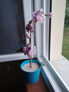 crochet orchidée
