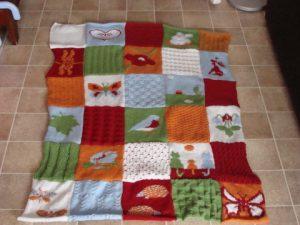 plaid progressif tricot