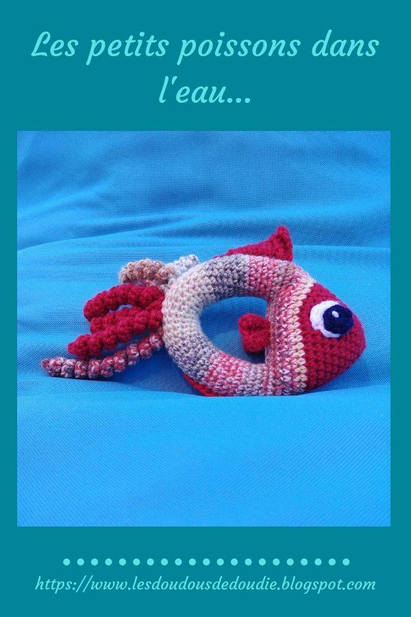 # amigurumis : hochet en forme de poisson