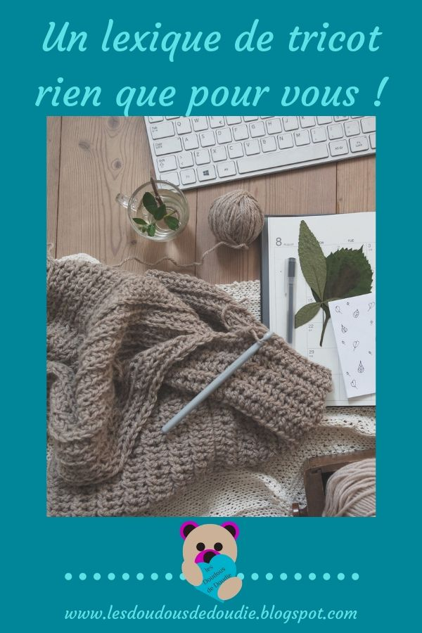 épingle pinterest pour lexique tricot français-anglais
