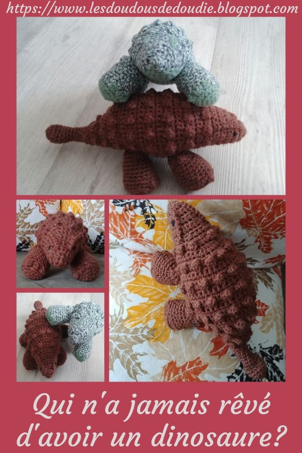 # amigurumis : ankylosaure en liberté!