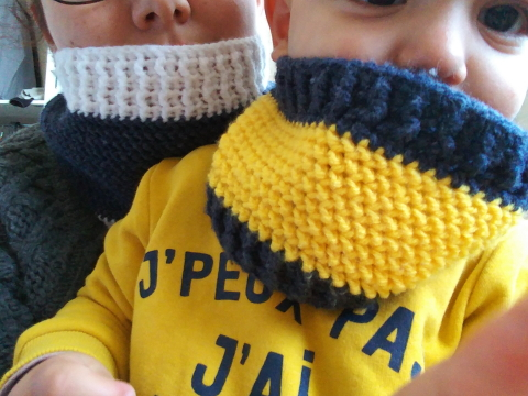 crochet snood adulte enfant