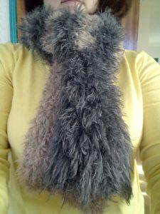 écharpe eskimo au tricot