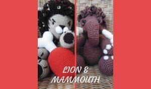# Amigurumis :  Lion et Mammouth