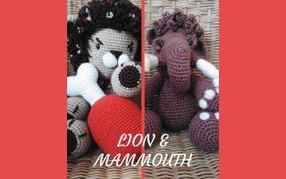 Découvrez deux amigurumis crochetés pour Noël : un mammouth et un lion. Ils sont adorables et raviront les grands comme les petits.