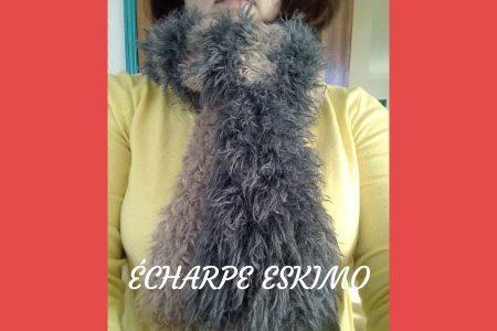 Découvrez ma dernière création au tricot : l'écharpe Eskimo. Tricotée avec de grosses aiguilles, cette écharpe ultra simple sera votre alliée pour l'hiver !