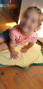 crochet tapis soleil