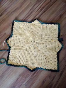 crochet tapis soleil terminé