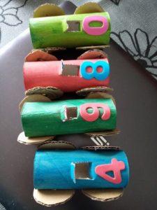 DIY enfant : voitures de courses papier toilette