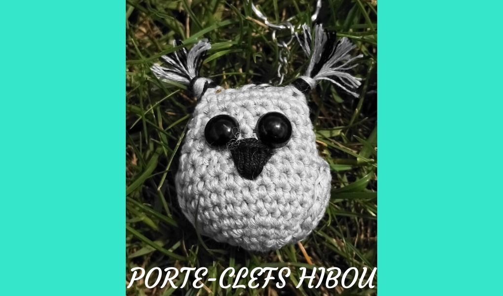 # Crochet : porte-clefs hibou