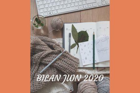 Découvrez mon bilan pour le mois de juin 2020 : déclaration en ME, des cafouillages, une organisation à revoir et un bel été en perspective !