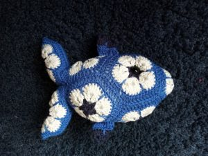 poisson au crochet en African Flowers