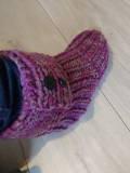 chaussons au tricot à offrir à Noël