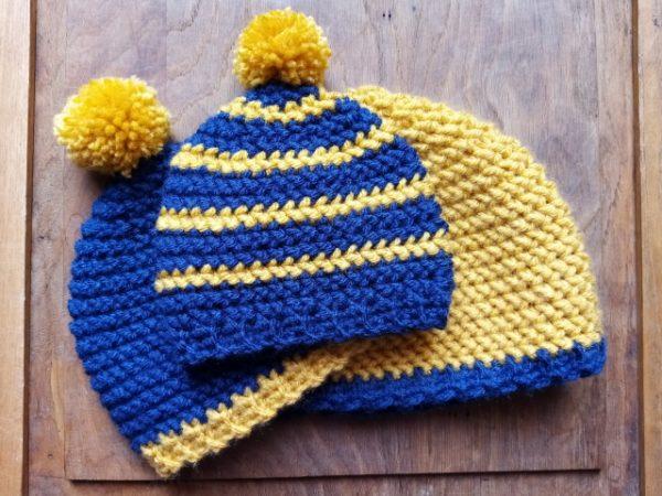crochet bonnet herringbone
