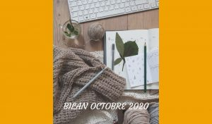 Découvrez mon bilan pour le mois d'octobre 2020. J'ai beaucoup de projets et besoin d'une bonne organisation ! Des idées ?