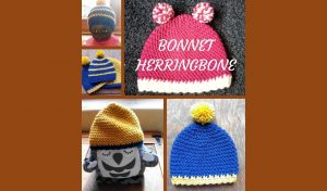 # Crochet : Bonnet Herringbone