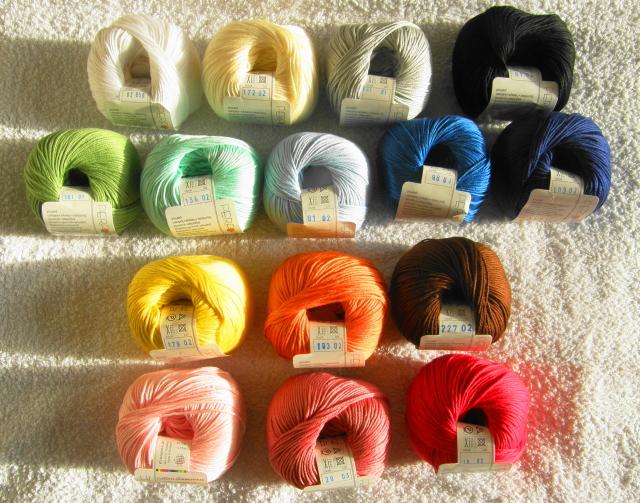 pelotes de fil en coton