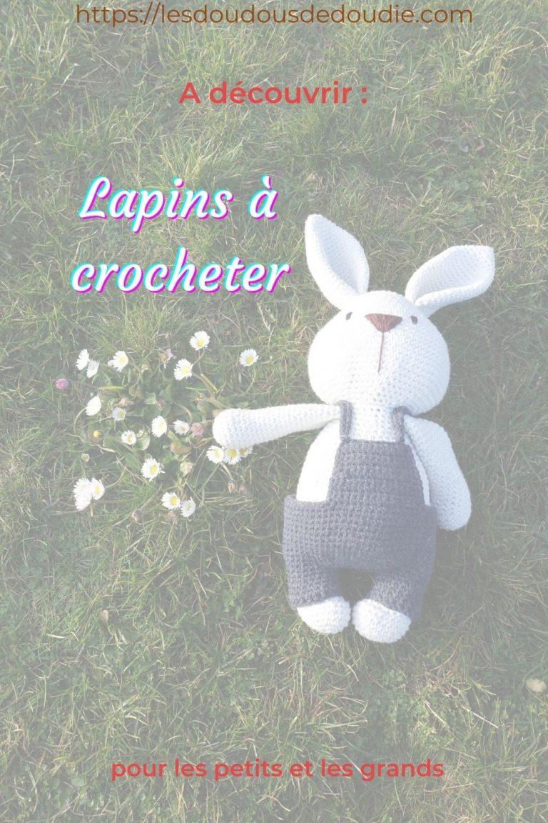 Pour la naissance de mon neveu, je lui ai crocheté une famille de lapin. J'ai découvert ce patron pendant l'ami-along du mois de février.