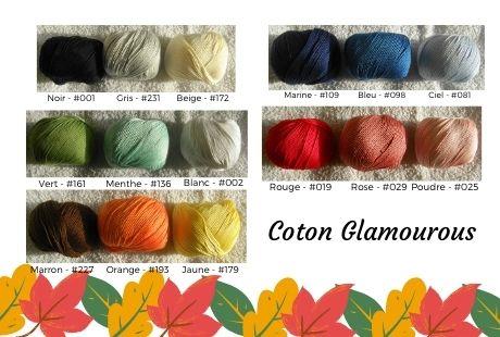 nuancier coton glamourous