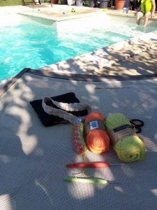 lâcher prise au bord de la piscine