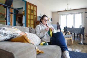 où crocheter : dans son canapé